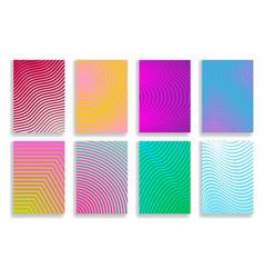 Set of covers halftone geometric design vector