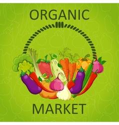 Organic market vector
