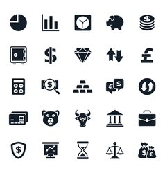 Finance and stock icon vector