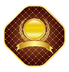 Golden template vector