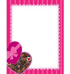 chocolates background vector image
