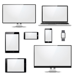 Modern electronic devices vector