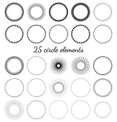 Set of circle elements vector