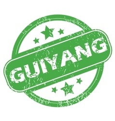 Guiyang green stamp vector