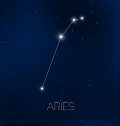 Aries constellation in night sky vector