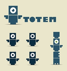 Totem logo and character vector