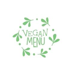 Vegan cafe calligraphic menu board vector
