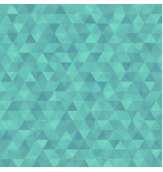 abstract triangle in green background vector image