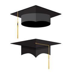 Academic graduation cap student hat vector