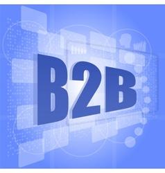 B2B slogan poster concept Business marketing vector image vector image