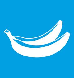 Banana icon white vector