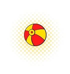 Beach ball icon comics style vector image