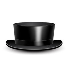 Black cylinder hat vector