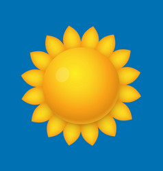 cartoon sun sunflower shape vector image vector image