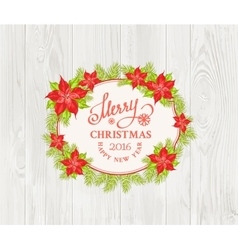 Christmas mistletoe branch vector