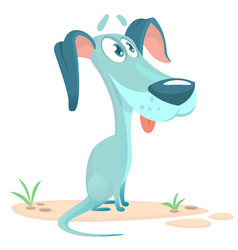 cute little dog cartoon vector image vector image