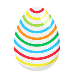 Easter egg flat icon easter and holiday vector