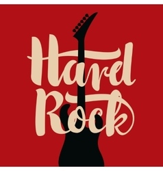Electric guitar and hard rock vector