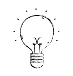 Figure light bulb idea to creative invention vector