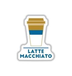 flat icon design collection latte macchiato vector image vector image