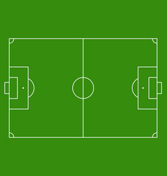 football soccer green field background vector image
