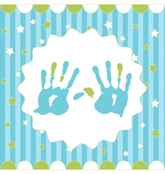 handprint of boy vector image