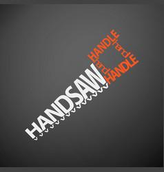 Handsaw concept vector