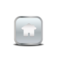 Home icon metal button vector