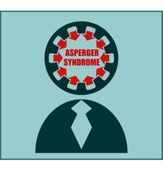 Icon flat design asperger syndrome disorder vector