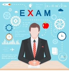 Infographics exam vector