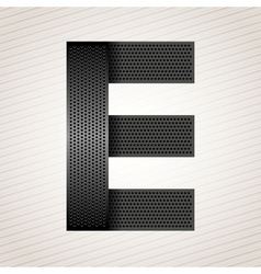 Letter metal ribbon - E vector image