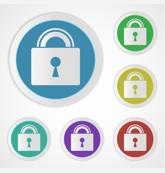 Lock icons closed vector