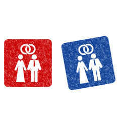 marriage persons grunge textured icon vector image