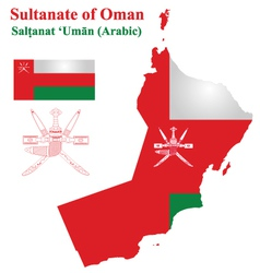 Omani flag vector