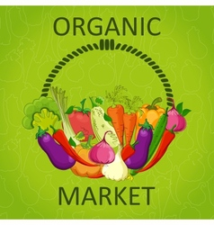 organic market vector image vector image