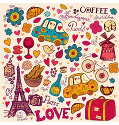 Paris Background vector image vector image