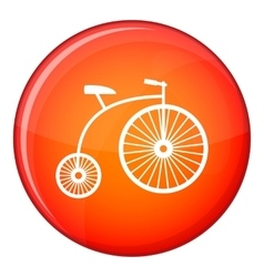 Penny-farthing icon flat style vector