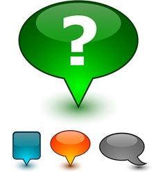 Question speech comic icons vector
