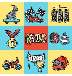 Racing Design Concept vector image vector image
