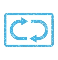 Recycle icon rubber stamp vector