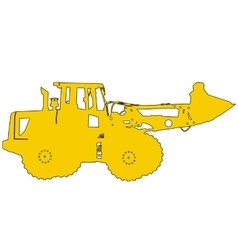 Silhouette of a heavy loaders with ladle vector image