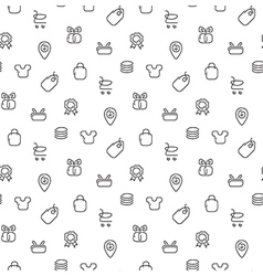 Trade sale seamless pattern vector image