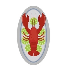 Lobster flat vector image