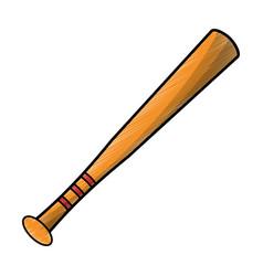 drawing bat baseball equipment vector image