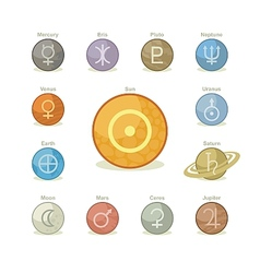 Planetary icons vector