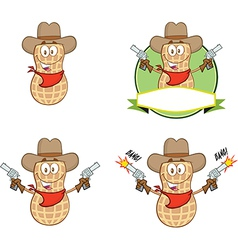Peanut cartoon vector image