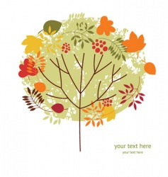 autumnal tree vector image
