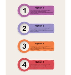 Set of colourfull infographics options banners vector image