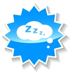 Sleep blue icon vector