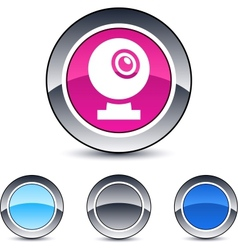 Webcam round button vector